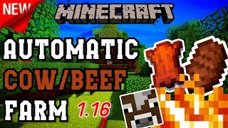 Easiest Automatic Cow Farm | Minecraft Bedrock 1.16 (MCPE/Xbox/PS4/Nintendo Switch/Windows 10)