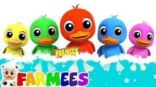 Five Little Ducklings | Colors Songs For Children | Kindergarten Nursery Rhymes For Kids by Farmees