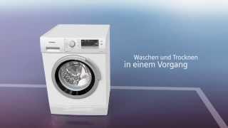 Waschen mit Siemens: Waschtrockner