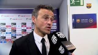 "Luis Enrique: ""We deserved to win"""