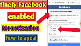 finely Facebook enabled monetization   how to enabled for facebook monetization apeal