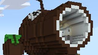 Minecraft vs Zombies COCONUT CANNON Firing Range PvZ Land