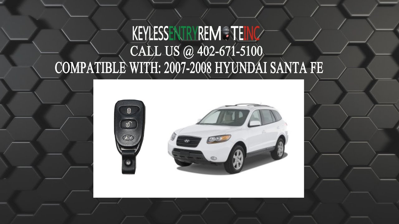 How To Replace Hyundai Santa Fe Key Fob Battery 2007 2008