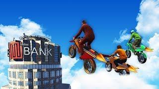 ROCKET BIKE LANDING ON MAZE BANK CHALLENGE! (GTA 5 Funny Moments)