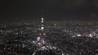 [4K] Tokyo night fly with Sony FDR-AX100