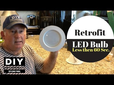 LED Light Retrofit To Replace Old Light Bulbs