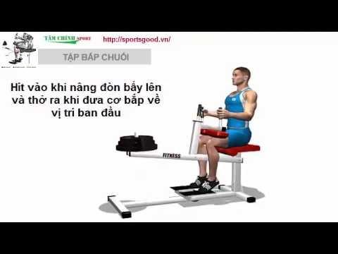 Hướng dẫn tập thể hình Tập cơ bắp chânbắp chuối P1