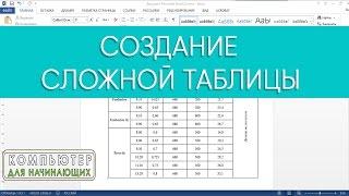 Создание сложной таблицы в Ms Word