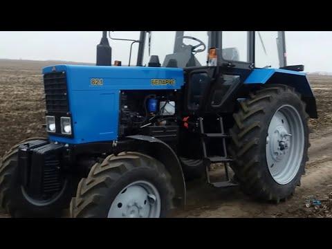 Краткий обзор трактора МТЗ 82.1 во время обкатки.