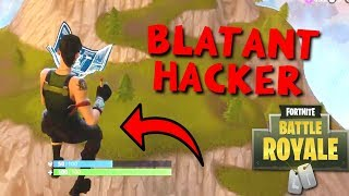 FUNNIEST Thing Happens to a HACKER! - Fortnite Battle Royale