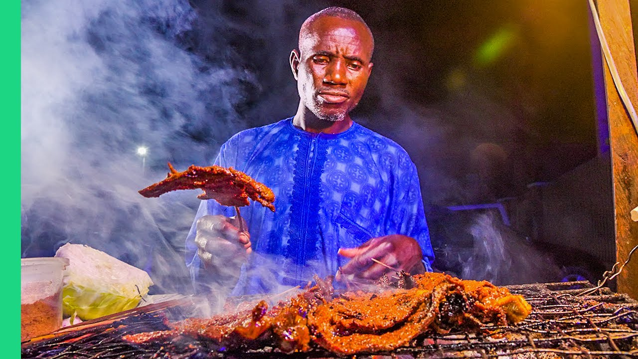 Nigerian Street Food at Night!! Africa's Biggest Food City!!