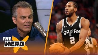 Colin Cowherd on reports Kawhi Leonard is 'disconnected' from the Spurs | THE HERD