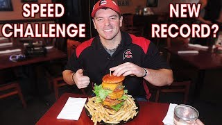Ultimate American Burger Challenge Record Attempt!!
