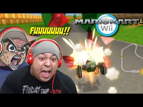 I THOUGHT THIS SH#T WOULD BE EASIER!!! I WAS F#%KING WRONG!! [MARIO KART Wii]
