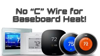 How to install a Smart thermostat without a C wire (baseboard heat with zone valves) DIY hack