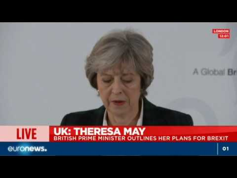 Theresa May delivers much-anticipated Brexit speech - Live footage