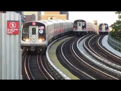 BMT Astoria Line: R160B Siemens Q Trains at 30th-Grand Aves-31st St