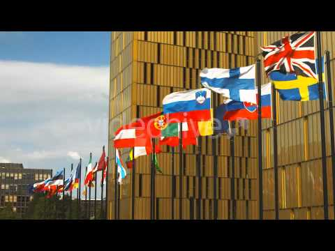 Stock Footage - The Real EU Flags | VideoHive