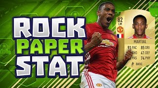 Epic anthony martial rock paper stat!! - fifa 18