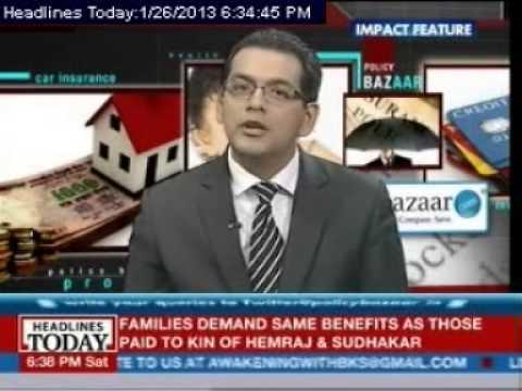Policy Bazaar Show on Headlines Today-Single Premium ULIP