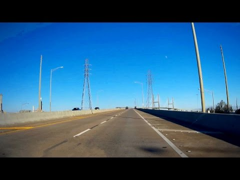 Road Trip #090 - US-90 East - Downtown Mobile to Mobile Bay via the Cochrane Africantown USA Bridge