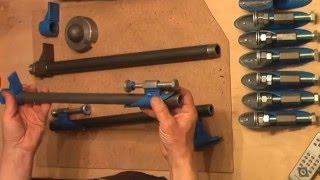 самодельная струбцина, быстросъемная, на косорезаной трубе(Трубная струбцина быстросъемная, фиксируется на трубе по принципу электромонтажных