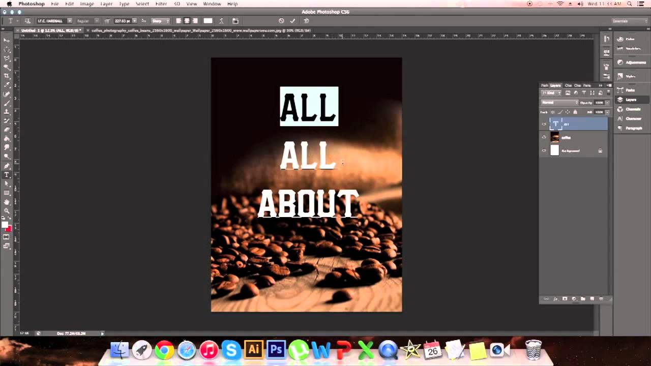 making a poster design in photoshop youtube