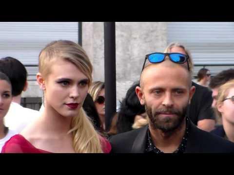 Gaia Weiss & Steo Rosso @ Paris Fashion Week 26 september 2014  Margiela