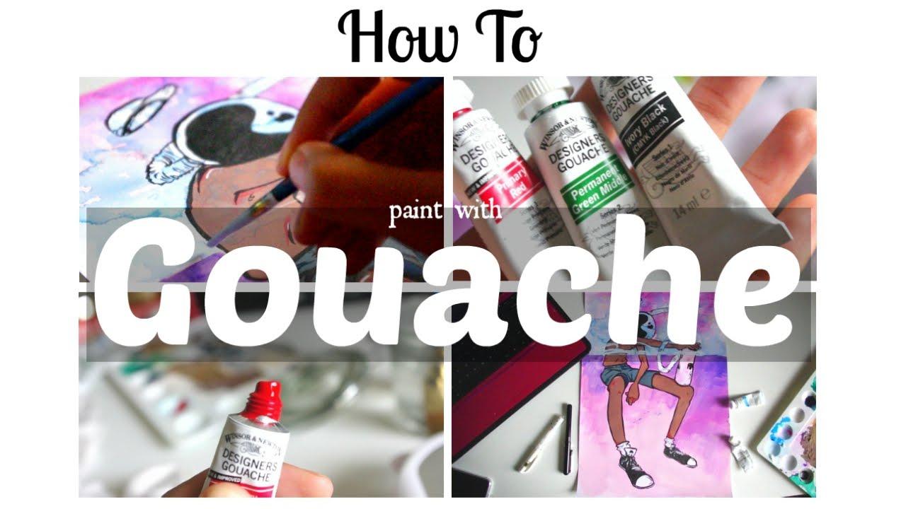 How to Paint with Gouache  Beginners Tips  Walkthrough  SemiSkimmedMin  YouTube