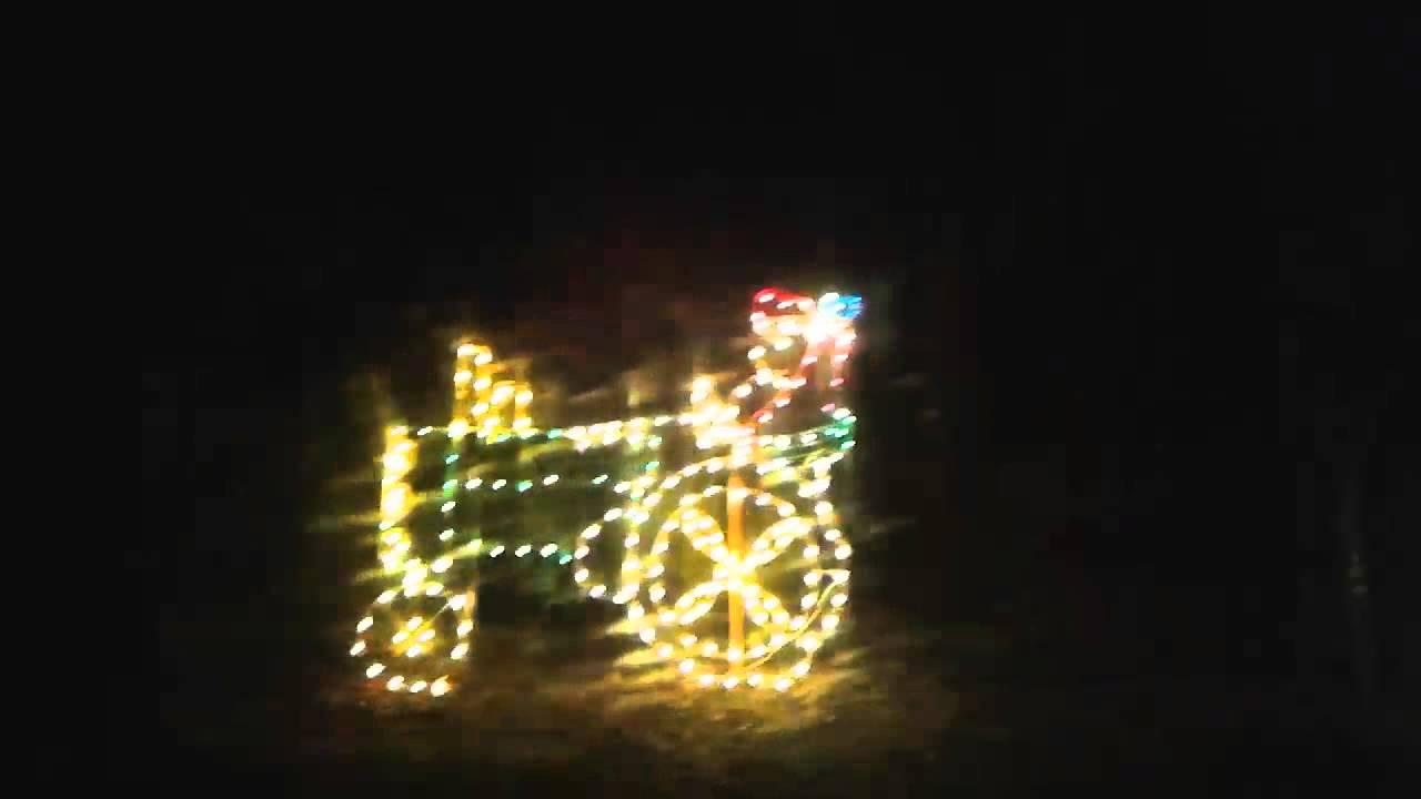Poor Starkey park Christmas lights - YouTube