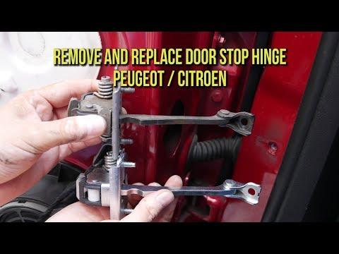 Remove and Replace Rear Door Stop Hinge – Peugeot & Citroen