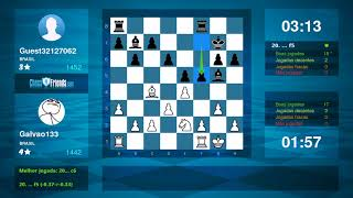 Chess Game Analysis: Galvao133 - Guest32127062 : 1-0 (By ChessFriends.com)
