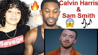 """Promises"" Calvin Harris ft. Sam Smith Official Music Video REACTION / Jaz & Alex Video"