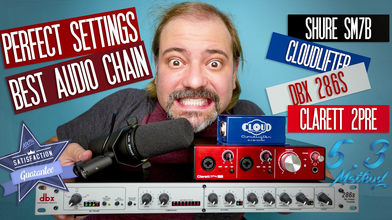 Shure Sm7b Best Audio Chain Perfect Dbx 286s Settings Youtube