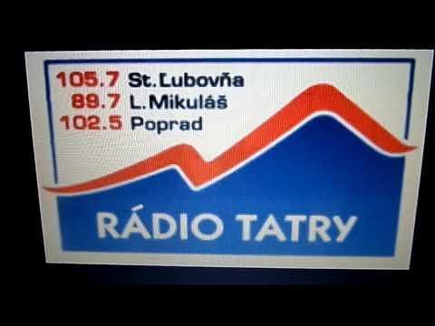 Radio TATRY SLOVAKIA Poprad 102,5mhz rok1992 do roku 2001 Jingle Radia Tatry