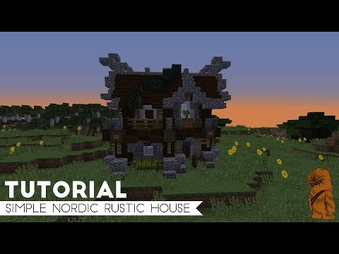 Minecraft Simple Medium Sized Nordic Starter / Survival House Tutorial (15x11)