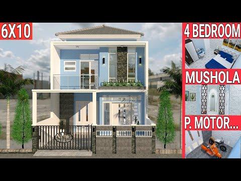 desain-rumah-6x10-m,-2-lantai-dengan-4-bedroom