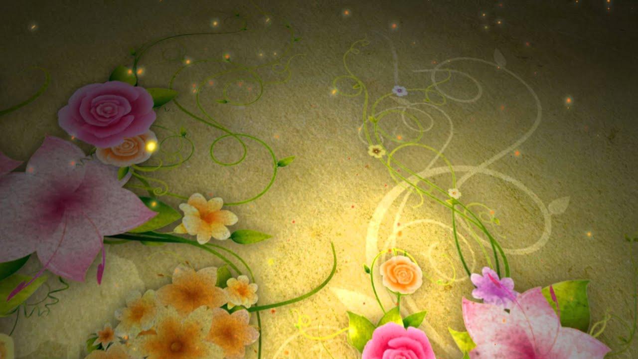 خلفيات فيديو ورود وزخارف وزهور متحركة ولوحات زيتية Youtube