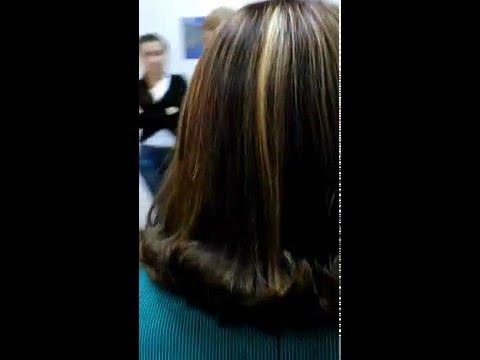 Колорирование с черных волос