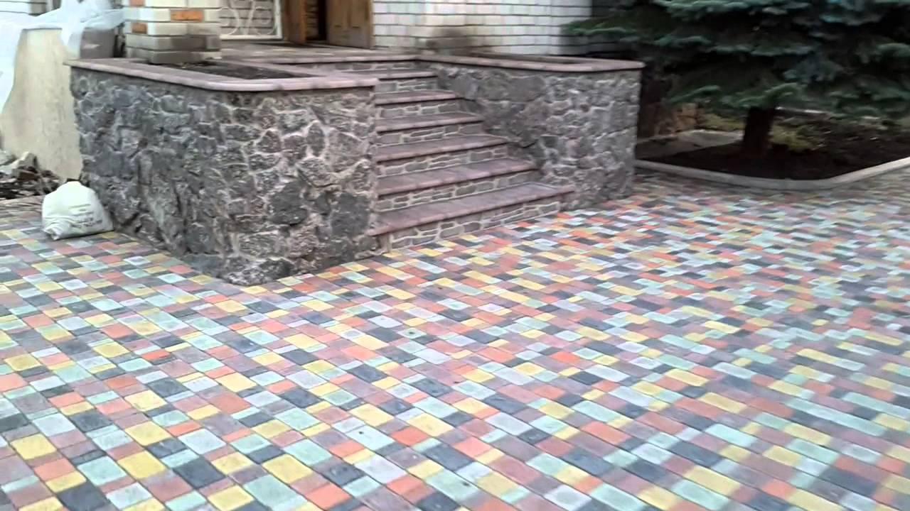 Тротуарная плитка старый город своими руками видео