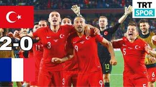 Türkiye - Fransa 2-0 Euro 2020 Maç Özeti Türkçe  Hd