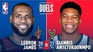 Giannis Antetokounmpo (27 pts) & LeBron James (39 pts) Battle It Out In Milwaukee | Dec. 19, 2017