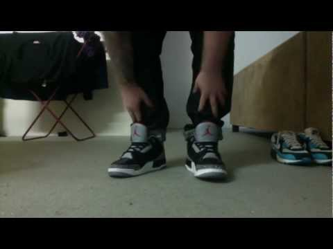 Air Jordan Black Cement III Restoration Part 4 Afterwards/Laced Up And On Foot Video