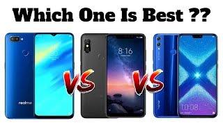 Realme U1 Vs Redmi Note 6 Pro Vs Honor 8X