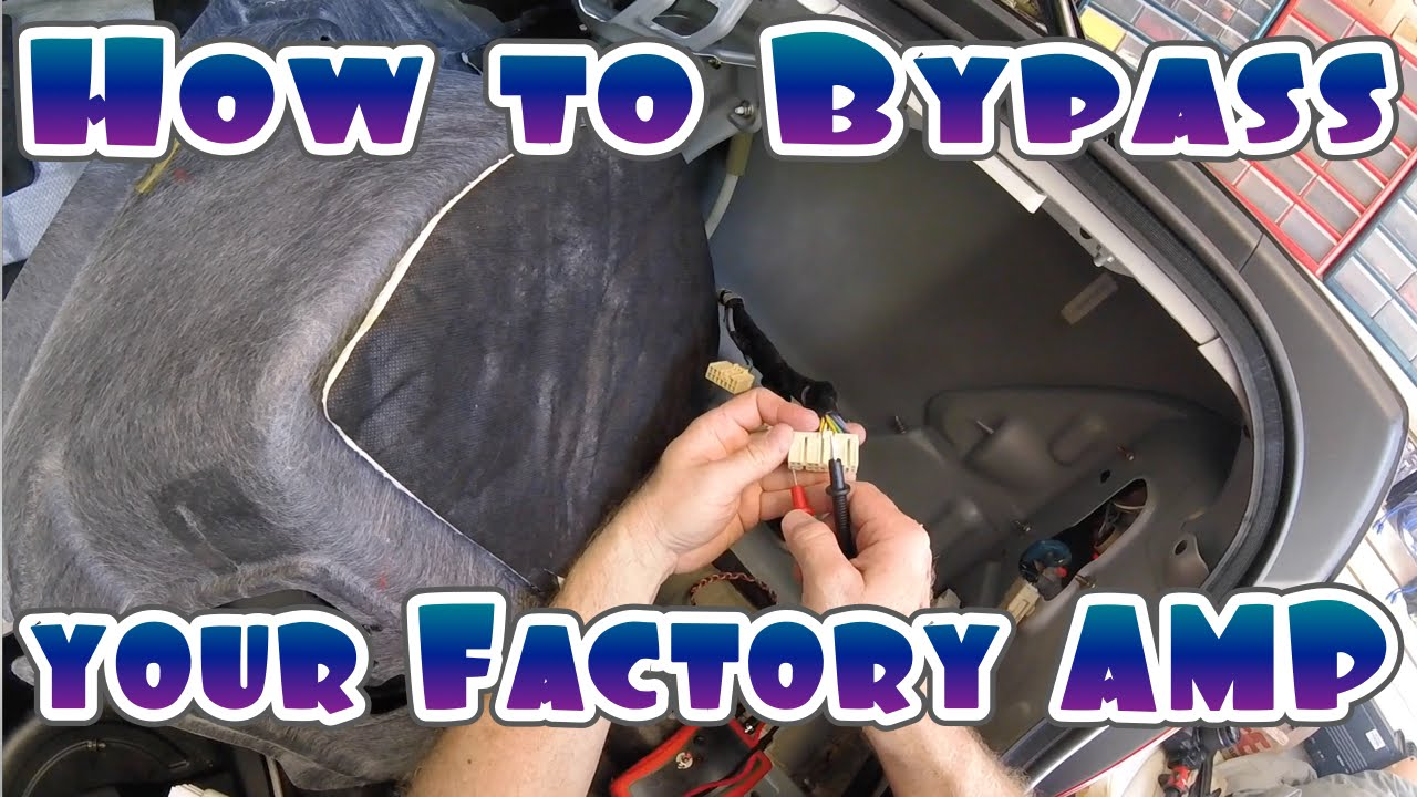 how to bypass your cars factory amplifier youtube wiring kit for subwoofer car wire for subwoofer and amp