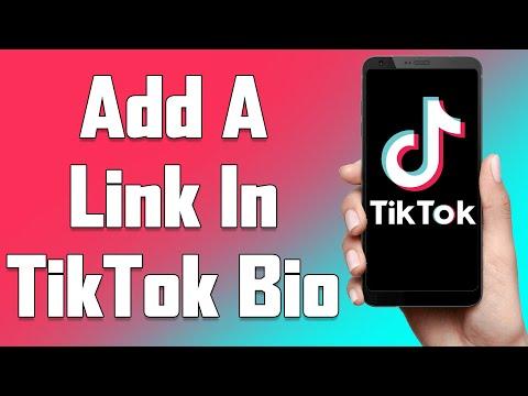How To Add A Link In TikTok Bio 2021   Put Clickable Website Links, Urls On TikTok Bio
