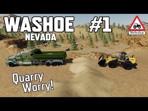 WASHOE Nevada,  #1, Quarry Worry! Farming Simulator 19, PS4, Let's Play.