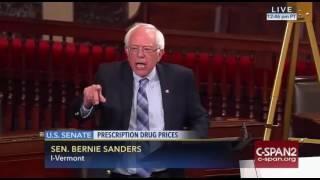 Bernie Sanders Goes Off on Rising Prescription Drug Prices Senate Floor 9/21/16