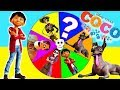 PIXAR COCO MOVIE GAME - Spin the Wheel with Fingerlings, Miguel Rivera, Play Doh Surprise Toys