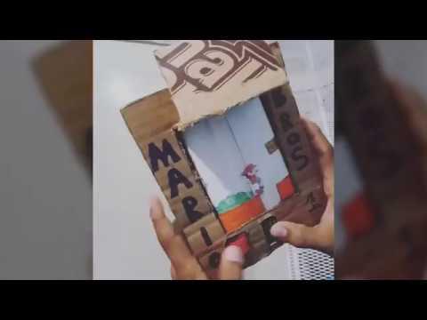 Niño creó un Super Mario Bros. de cartón y sorprende en redes sociales